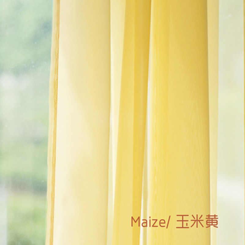 النمط الأوروبي والأمريكي تول الستائر لغرفة المعيشة نافذة الفرز 20 ستائر للباب الصلبة الستارة لوحة Sheers W184