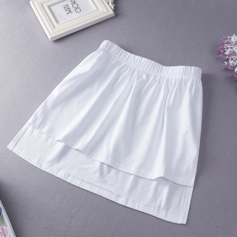 Hoodie Underwear False Hem Women's Base Skirt Fake Shirt Hem Skirt Layered Decoration Shirt Short Skirt
