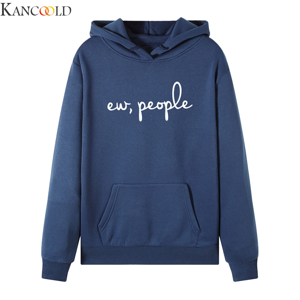 KANCOOLD Autumn Winter Sweatshirt Letter Hoodie Harajuku Print Pullover Thick Women Comfortable Female Casual Coat Hoodies