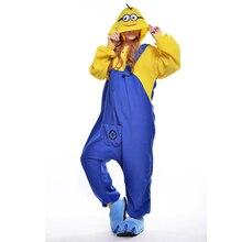 Minions Unisex Adult One-Piece Pajamas Cosplay Onesies Large Cartoon One-piece Animal Sleepwear Pyjamas Christmas Costume