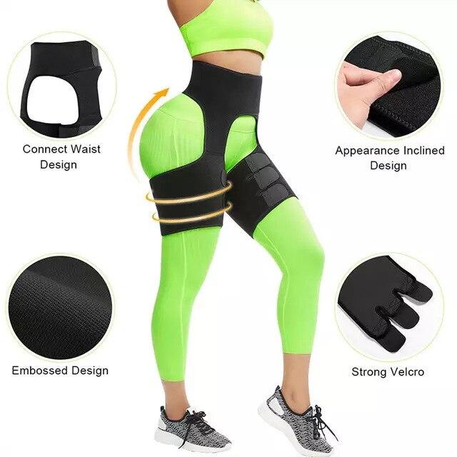 Women Hot Sweat Waist,Sport Girdle Belt Booty Hip Enhancer Lift Butt Lifter Shaper Waist Trainer Thigh Trimmers For Women 4