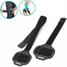 2 sztuk/partia regulowane elastyczne pasek na nogę opaska sportowa na przełącznik do nintendo Joy con NS na Ring Fit gry przygodowe dla dzieci i dorośli