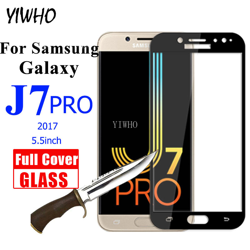 Protective <font><b>Glass</b></font> on For <font><b>Samsung</b></font> Galaxy <font><b>Glass</b></font> J7 Pro 2017 Full Cover Tempered Glas Screen Protector for Sunsung J <font><b>7</b></font> J7pro J730 image