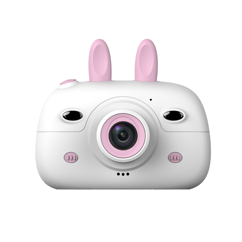 A3 Children Camera 1080P HD SLR Dual Lens Mini Cartoon Camera With 2.4 Inches IPS Screen For Kids LFX-ING Pink