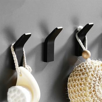 Black Robe Hook Wall Towel for Bathroom Coat Rustproof Hanger Clothes Hangers Kitchen Hardware - discount item  26% OFF Bathroom Fixture