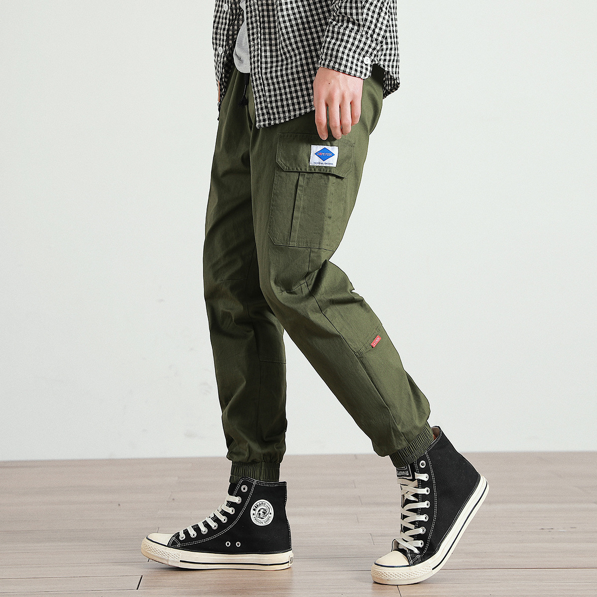 Large Size Casual Pants Men's New Style Men's Casual Pants Fat Youth Casual Loose-Fit Versatile Korean-style Men's Fashion Bib O