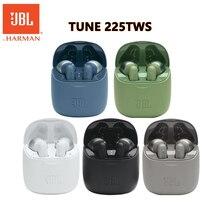 JBL Tune 225 TWS سماعة لاسلكية تعمل بالبلوتوث سماعة T225 واقي أذن رياضي عميق باس سماعات مقاوم للماء سماعة رأس مزودة بميكروفون شحن