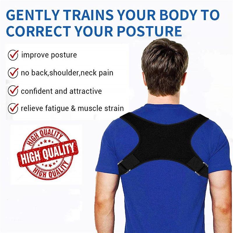 Brace Support Belt Adjustable Back Posture Corrector Clavicle Spine Back Shoulder Lumbar Posture Correction For Adult Unisex 3