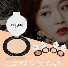 Popfeel Full Coverage Texture Concealer Cream Foundation Remove Black Spots Dark Circle Cover Eyes
