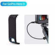 GoPro 9 pil yan kapak kapak çıkarılabilir kolay tip C şarj kapağı portu GoPro Hero 9 siyah