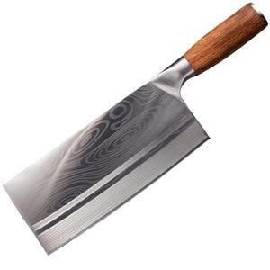 Image 5 - Shuoji中国スライスナイフスーパーシャープ刃野菜肉魚ナイフ 4Cr14 高硬度キッチン調理ナイフ包丁