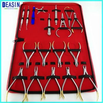 NEW 18PCS Good Quality Dental Orthodontics Instruments Set Ring Retractable Bracket Locator Subalong Pliers