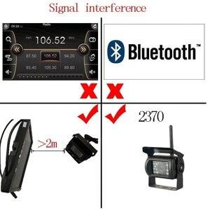 """Image 4 - Podofo kablosuz 4 yedekleme kameraları IR gece görüş su geçirmez ile 7 """"dikiz monitör RV kamyon otobüs park yardım sistemi"""