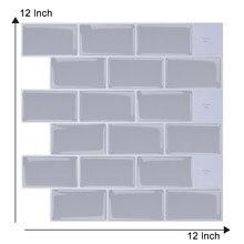 EasyKing Gray Brick Pattern Waterproof Wall Sticker 3d Self-Adhesive Paper Bakery Decoration Wallpaper Waterproof Backsplash