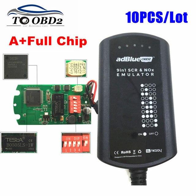 10 יח\חבילה Adblue 9 ב 1 עובד 9 משאית להוסיף עבור CUMMINSElectronic מודול כבד החובה לספירה כחול אמולטור