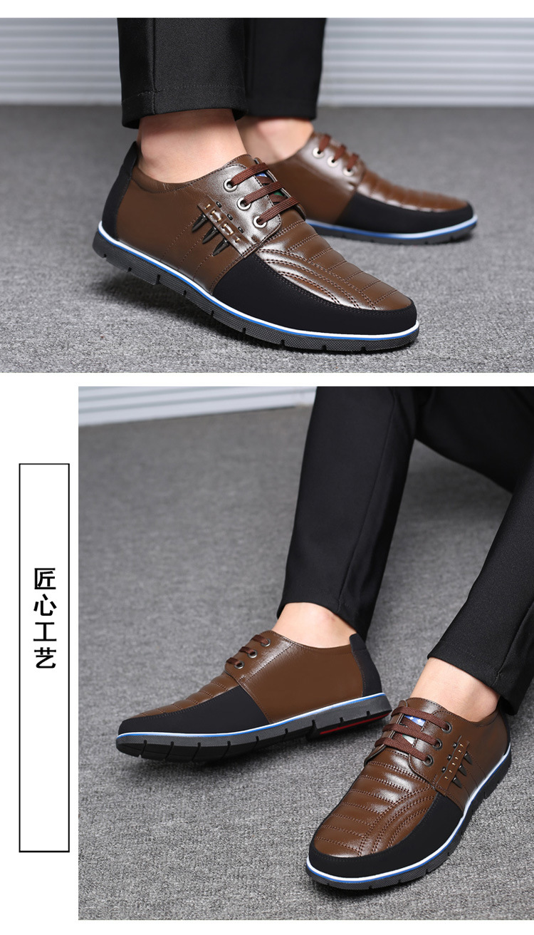 2019 Autumn Men Genuine Leather Shoes High Quality Lace-up Fashion Design Solid Tenacity Comfortable Men's Shoes Big Size 37-48
