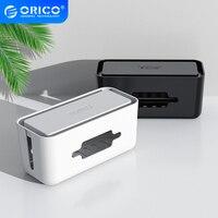 ORICO-caja de almacenamiento con soporte para teléfono, tira de alimentación para Cable adaptador/Cable de carga/caja de administración de Cable de red USB HUB