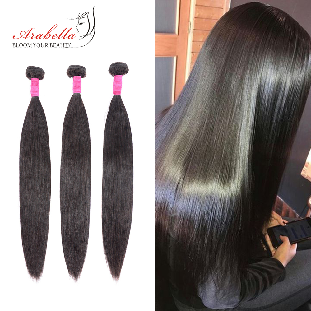 Hair Bundles Brazilian Straight Hair Weave Bundles Natural Remy Arabella 1/2/3/4 Pieces Human Hair Extension 8-32 Inches Bundles