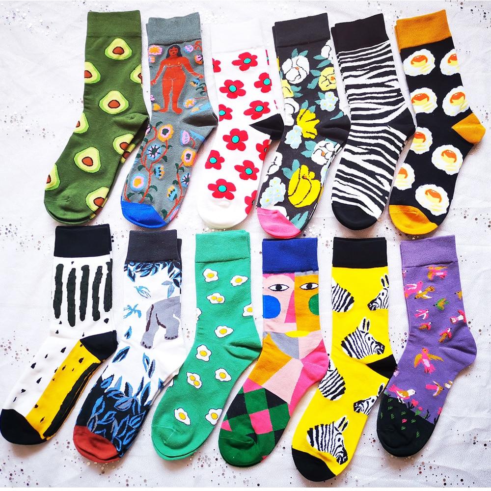 Image 2 - Хлопковые женские носки цветные толстые зимние носки теплые красивые хлопковые носки счастливые носки забавные женские Носочки женские хлопчатобумажные носки милые-in Носки from Нижнее белье и пижамы on AliExpress - 11.11_Double 11_Singles' Day