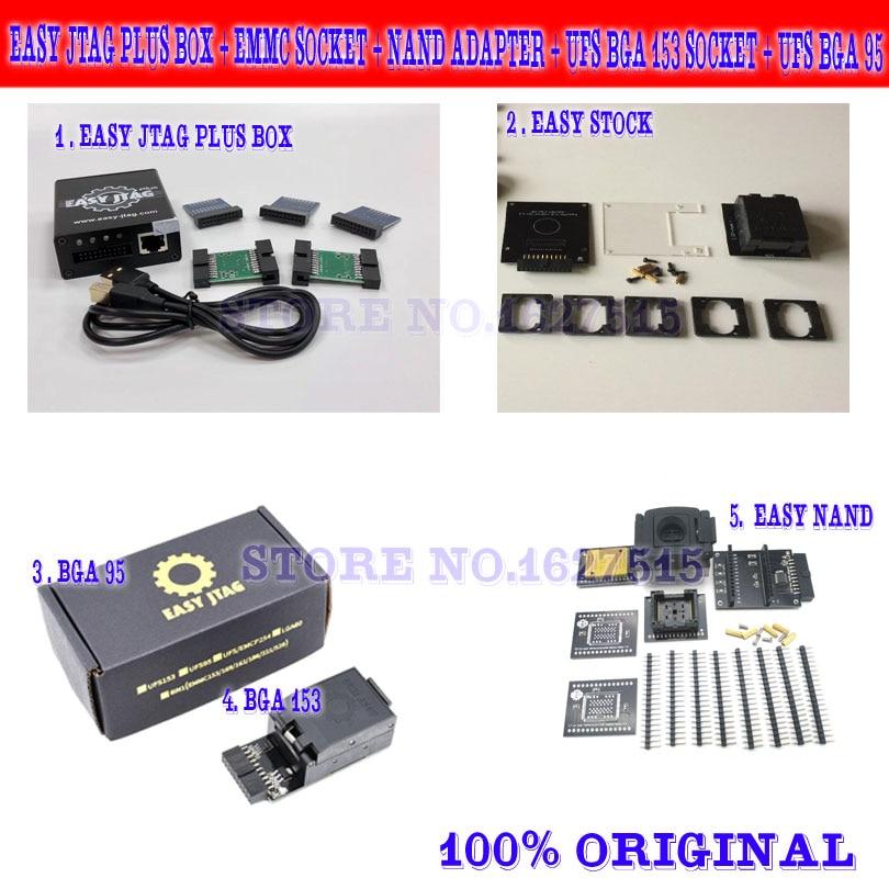 z3x pro set original new easy jtag plus box + emmc socket + nand adapter + ufs bga 153 socket + ufs bga 95 socket adapter(China)