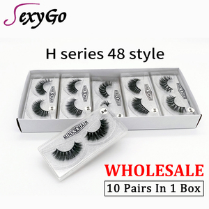 mink lashes factory outlet 3d natural mink wholesale lashes false eyelashes black lashes in box full strip 1 Pairs/Pack bulk lot