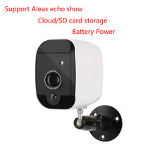 Home security battery IP cameras 2MP Rechargeable wifi IP cameras 1080P HD IR vision outdoor no power wireless IP bullet cameras cheap JIANSHU 1080P(Full-HD) 3 8V 77*66*48mm Wi-Fi 802 11 b g Android Waterproof Weatherproof H 264 White 0 01 CMOS Rechargeable battery wifi IP bullet cameras