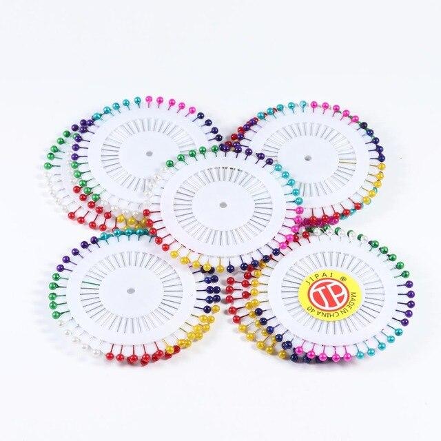Xinyao 480 piezas con cabeza de perla redonda, acero inoxidable, pines rectos, agujas para hacer joyería, Pin de costura, accesorios de colores mezclados