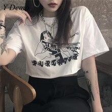 Y Demo Harajuku Summer Short Sleeve Girl Printing Casual T-shirt