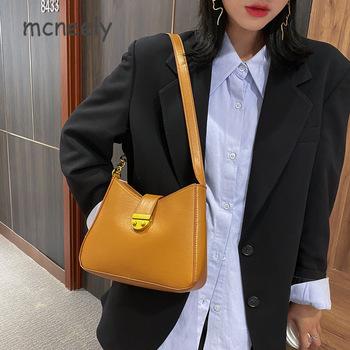 Jesienno-zimowa nowa torebka damska torebka damska moda Retro prosta torba na ramię z jednym ramieniem koreańska wersja czerwona torba na łańcuszku tanie i dobre opinie Mcneely Flap Torby na ramię CN (pochodzenie) zipper SOFT Solidna torba vintage 7764 Skóra syntetyczna Versatile WOMEN