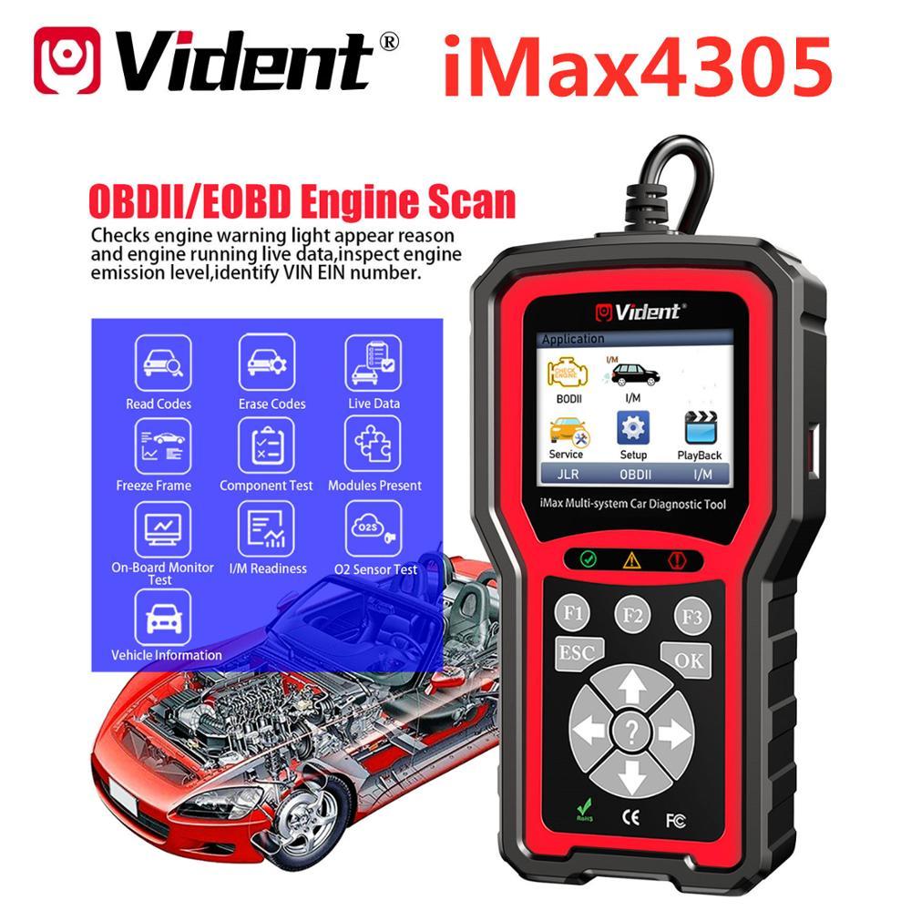 Vident imax4305 ferramenta de diagnóstico automotivo, sistema completo, obd, para vauxhall/opel/rover reset, obdii, serviço de diagnóstico