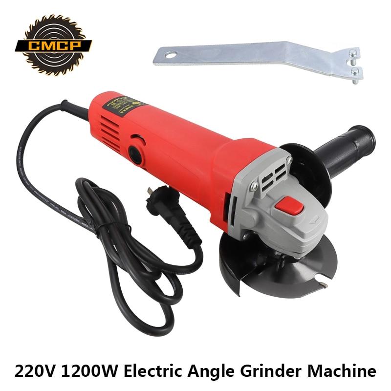 220V 1200W Electric Angle Grinder Machine Copper Motor Grinding Machine Power Tools Angle Grinder Stand