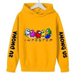 2021 Game Among Us Impostor boys Hoodies Hooded Casual Hip Hop Streetwear Long Sleeves Sweatshirts Girls Boys Winter Tops Coats
