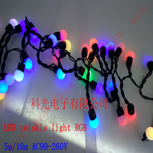 5M 10meter AC90-265V LED lighting strings RGB 50led 100leds Colorful decorative lamp  string Waterproof highlighted Christmas