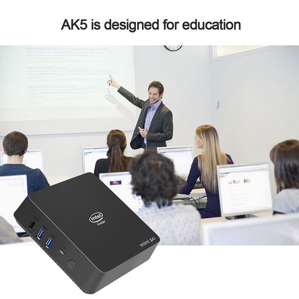 Ak5 Mini Pc Win10 Apollo Lake Celeron Dc Or Qc J3455 N3450 4Gb 64Gb 2.4G/5G Dual Band Wifi Win 10 64 Bits Linux Tv Box Computer
