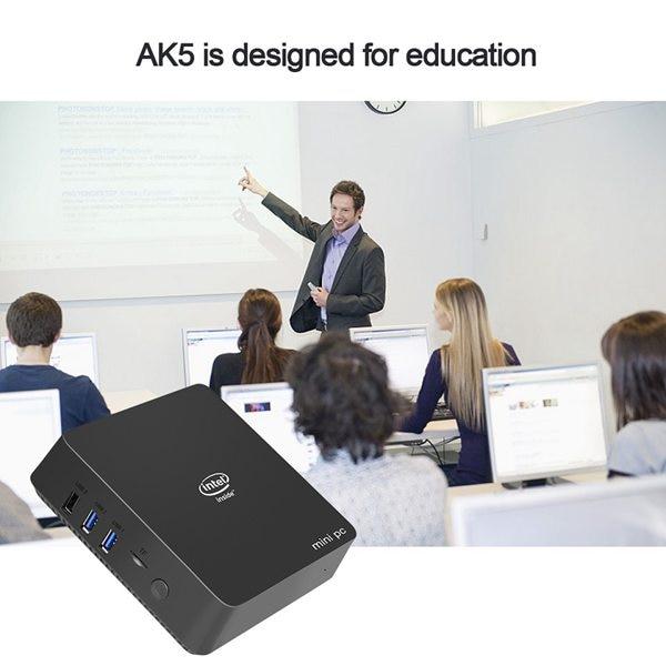 Ak5 Mini Pc Win10 Apollo Lake Celeron Dc Or Qc J3455 N3450 4Gb 64Gb 2.4G/5G Dual Band Wifi Win 10 64 Bits Linux Tv Box Computer