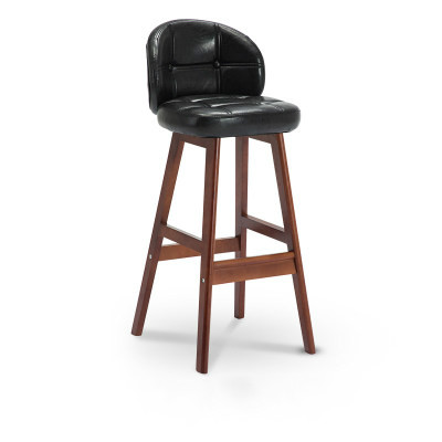 Bar Chair Modern Minimalist Solid Wood Bar Stool High  Creative   Nordic Home