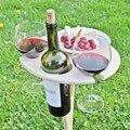 Outdoor Wein Tabelle Tragbare Picknick Tisch Wein Glas Rack Faltbare Tisch Leicht Zu Tragen Wohnkultur Mini Holz Picknick Tisch