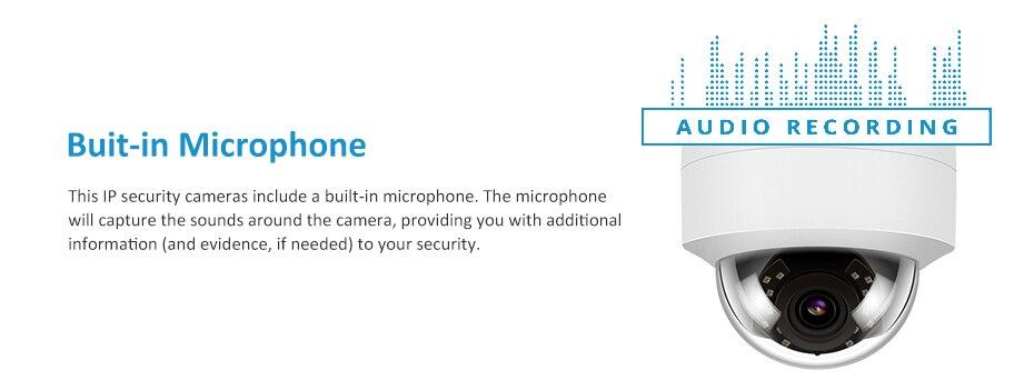 Hee91da4baa76464880d8d292365889caW 5MP POE IP Camera with Microphone, Audio, IP Security Dome Camera outdoor IP66 Indoor Outdoor ONVIF Compatible Hikvision