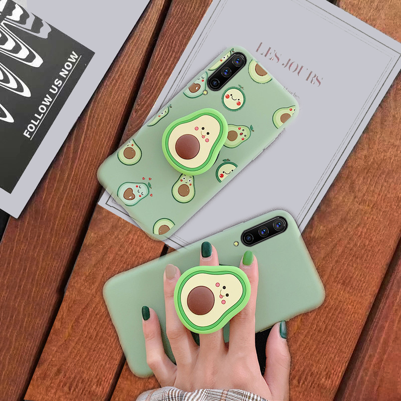 Silicone Avocado Holder Stand Cover Case For <font><b>Samsung</b></font> galaxy A51 A71 A50 A10 A20 A30 A40 A70 A80 S20 S10 S9 Plus note 8 9 10 Pro image