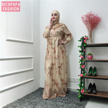 Ramadan เลื่อมลูกไม้ Abaya ดูไบตุรกีอิสลามมุสลิม Hijab Kaftan Abayas สำหรับผู้หญิง Jilbab Caftan เสื้อผ้ากาตาร์ Elbise Robe