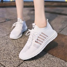 Women Casual Shoes Summer 2019 Fashion Vulcanize Breathable Lace-Up Ladies Sneakers C0045