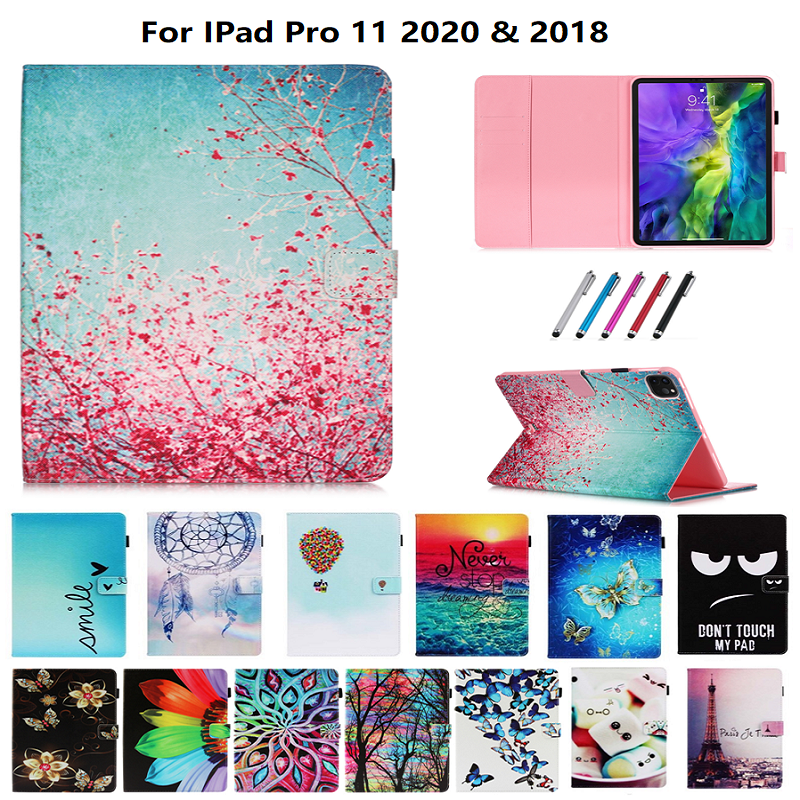 Wallet Flowers Tablet Case Tablet Pro Cover 2020 iPad Coque Stand For Funda For Owl 11