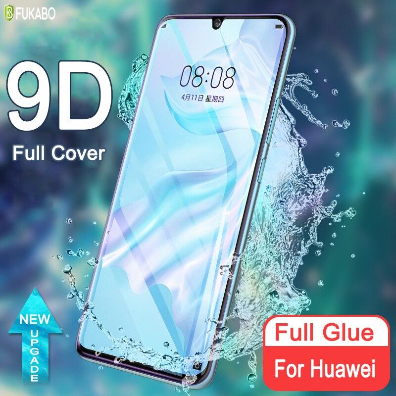 Jöle tam tutkal kavisli temperli cam için Huawei P30 Pro P40 artı ekran koruyucu Mate 20 30 Pro onur nova 7 30 Pro artı
