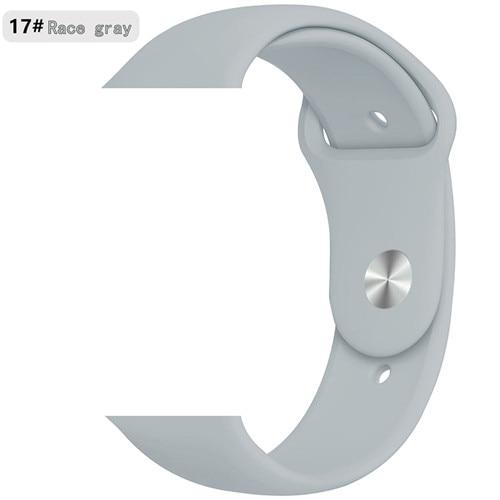 Ремешок для apple watch band 44 мм/40 мм iwatch band 5 4 42 мм 38 мм correa pulseira watch band для apple watch 5 4 3 браслет 44 мм - Цвет ремешка: Race gray 17