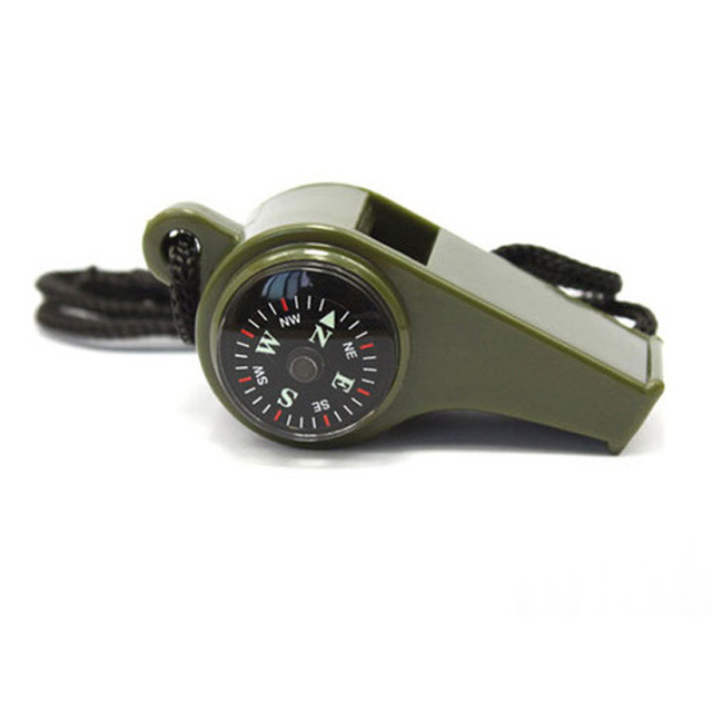 3 In 1 Compass Thermometer Survival Whistle Outdoor Military Tactical Multi Tool Emergency Equipment Camping Hiking Hunting Gear 4