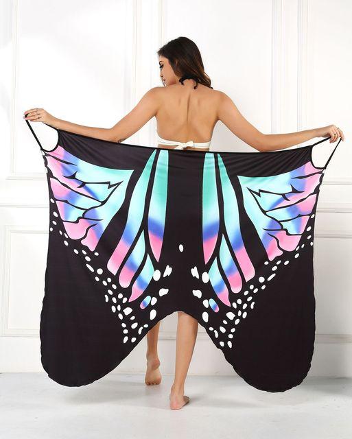 2020 Summer Women Beach Wear Tunic Bikini Bath Sarong Wrap Skirt Swimsuit Cover Up Butterfly Print Sexy Cover-Ups Dress Swimwear 8