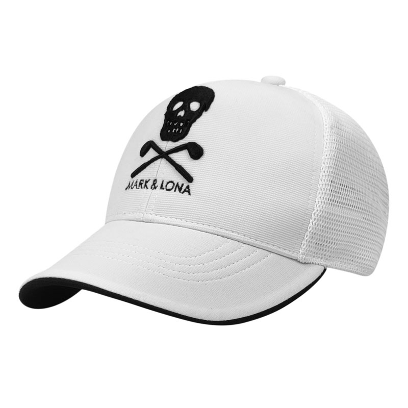 New high quality unisex MARK&LONA Golf hat ins black and white hat embroidered sports golf cap
