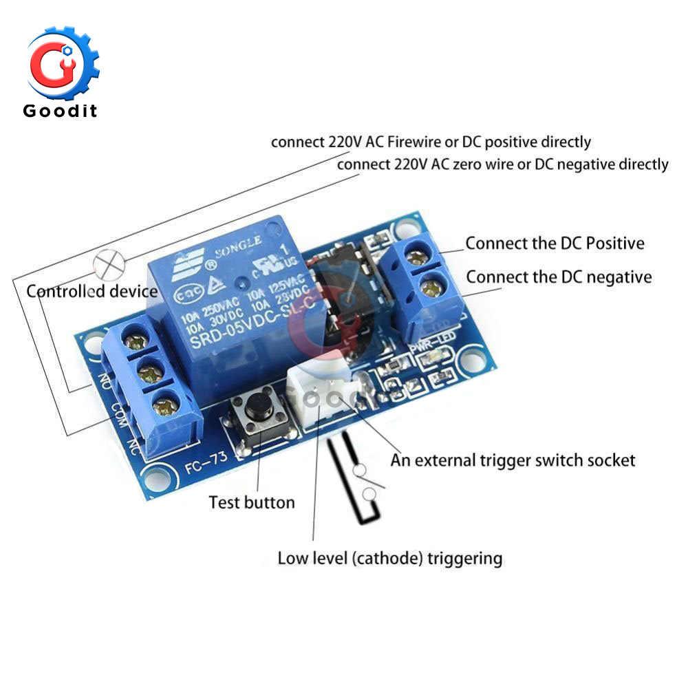1 قناة تيار مستمر مُرحّل ذو قطبين وحدة 5 فولت/12 فولت/24 فولت مع اللمس ثنائي المستقر التبديل MCU التحكم تيار مستمر وحدة التتابع