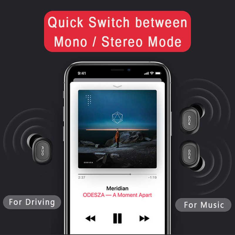 QCY qs1 kopfhörer Bluetooth 5,0 TWS kopfhörer mini unsichtbare 3D HiFi stereo wireless headset mit power bank lade box/t1C