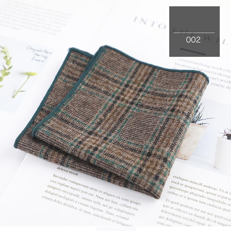 Клетчатый узор классический цвет Карманный квадратный мужской шарф аксессуары для мужского костюма мягкий высококачественный хлопок